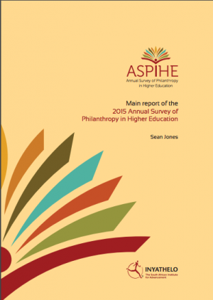 EVENT: Annual Survey Of Philanthropy In Higher Education 2015 Findings Presentation