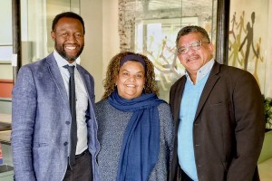 Caption: (left to right) Professor William Gumede of the Democracy Works Foundation, Inyathelo Programme Director Nazli Abrahams and Noel Daniels, CEO Cornerstone Institute and Inyathelo board member.